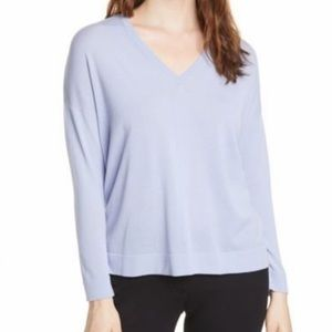 Eileen Fisher hycth v neck sweater pullover (L1/7)